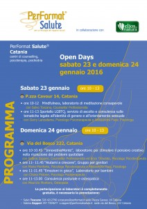 Open Days sabato 23 e domenica 24 gennaio